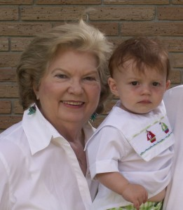 Elaine and Great-grandson Reed