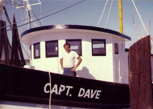 Capt. Robert outrigging the F/V Capt. Dave - a boat he had built c. 1971